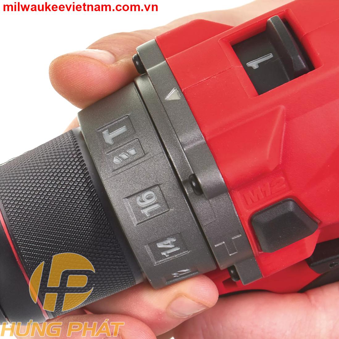Milwaukee M12 FPD có nhiều chế độ: khoan thường, khoan búa và các chế độ vặn vít